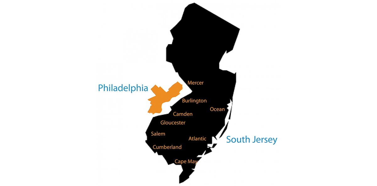 Southern New Jersey and Philadelphia