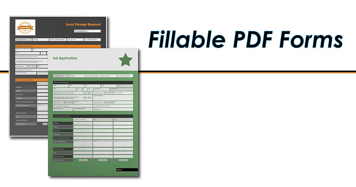 Fillable PDF Form Design